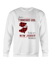 TENNESSEE GIRL LIVING IN NEW JERSEY WORLD Crewneck Sweatshirt thumbnail