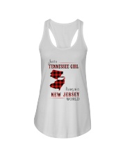 TENNESSEE GIRL LIVING IN NEW JERSEY WORLD Ladies Flowy Tank thumbnail