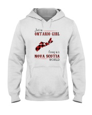 ONTARIO GIRL LIVING IN NOVA SCOTIA WORLD Hooded Sweatshirt thumbnail