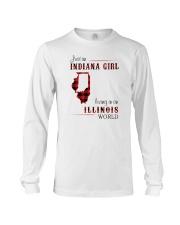INDIANAN GIRL LIVING IN ILLINOIS WORLD Long Sleeve Tee thumbnail