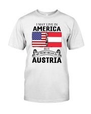 LIVE IN AMERICA BEGAN IN AUSTRIA ROOT WOMEN Classic T-Shirt tile