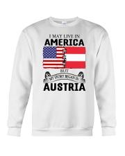 LIVE IN AMERICA BEGAN IN AUSTRIA ROOT WOMEN Crewneck Sweatshirt thumbnail