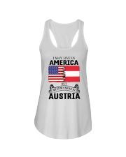 LIVE IN AMERICA BEGAN IN AUSTRIA ROOT WOMEN Ladies Flowy Tank thumbnail