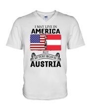 LIVE IN AMERICA BEGAN IN AUSTRIA ROOT WOMEN V-Neck T-Shirt thumbnail
