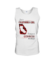 CALIFORNIA GIRL LIVING IN GEORGIA WORLD Unisex Tank tile