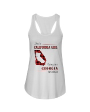 CALIFORNIA GIRL LIVING IN GEORGIA WORLD Ladies Flowy Tank tile