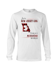 JERSEY GIRL LIVING IN MISSOURI WORLD Long Sleeve Tee thumbnail