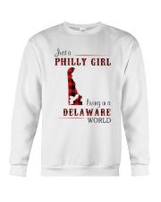PHILLY GIRL LIVING IN DELAWARE WORLD Crewneck Sweatshirt thumbnail