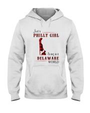 PHILLY GIRL LIVING IN DELAWARE WORLD Hooded Sweatshirt thumbnail