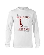 PHILLY GIRL LIVING IN DELAWARE WORLD Long Sleeve Tee thumbnail