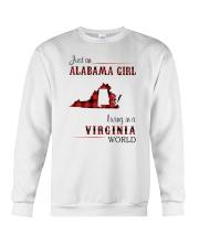 ALABAMA GIRL LIVING IN VIRGINIA WORLD Crewneck Sweatshirt thumbnail