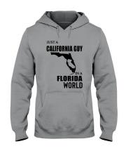 JUST A CALIFORNIA GUY IN A FLORIDA WORLD Hooded Sweatshirt thumbnail