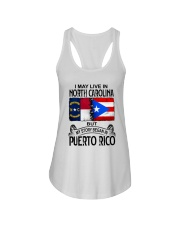 LIVE IN NORTH CAROLINA BEGAN IN PUERTO RICO Ladies Flowy Tank thumbnail