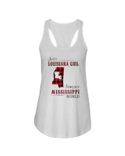 LOUISIANA GIRL LIVING IN MISSISSIPPI WORLD Ladies Flowy Tank thumbnail