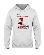 LOUISIANA GIRL LIVING IN MISSISSIPPI WORLD Hooded Sweatshirt thumbnail