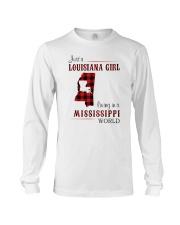 LOUISIANA GIRL LIVING IN MISSISSIPPI WORLD Long Sleeve Tee thumbnail