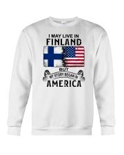 LIVE IN FINLAND BEGAN IN AMERICA Crewneck Sweatshirt thumbnail