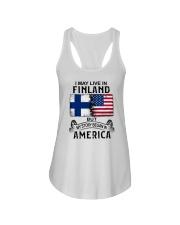 LIVE IN FINLAND BEGAN IN AMERICA Ladies Flowy Tank thumbnail