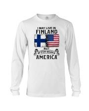 LIVE IN FINLAND BEGAN IN AMERICA Long Sleeve Tee thumbnail