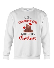 JUST A CANADIAN GIRL WHO LOVES CHRISTMAS Crewneck Sweatshirt front