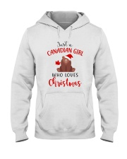 JUST A CANADIAN GIRL WHO LOVES CHRISTMAS Hooded Sweatshirt thumbnail
