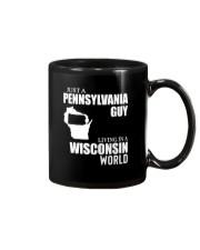 JUST A PENNSYLVANIA GUY LIVING IN WISCONSIN WORLD Mug thumbnail
