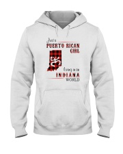 PUERTO RICAN GIRL LIVING IN INDIANA WORLD Hooded Sweatshirt thumbnail
