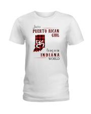 PUERTO RICAN GIRL LIVING IN INDIANA WORLD Ladies T-Shirt thumbnail