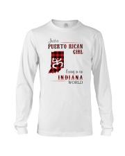 PUERTO RICAN GIRL LIVING IN INDIANA WORLD Long Sleeve Tee thumbnail