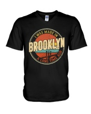 I WAS MADE IN BROOKLYN A LONG TIME AGO V-Neck T-Shirt thumbnail