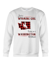 WYOMING GIRL LIVING IN WASHINGTON WORLD Crewneck Sweatshirt thumbnail