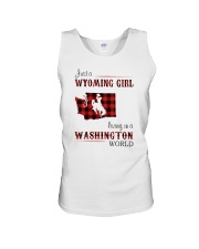 WYOMING GIRL LIVING IN WASHINGTON WORLD Unisex Tank thumbnail