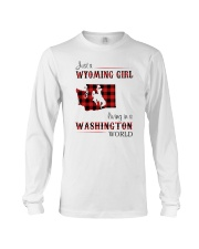 WYOMING GIRL LIVING IN WASHINGTON WORLD Long Sleeve Tee thumbnail