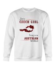 CZECH GIRL LIVING IN AUSTRIAN WORLD Crewneck Sweatshirt thumbnail