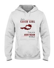 CZECH GIRL LIVING IN AUSTRIAN WORLD Hooded Sweatshirt thumbnail