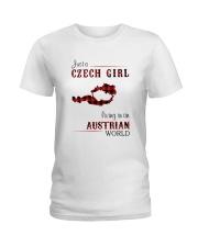 CZECH GIRL LIVING IN AUSTRIAN WORLD Ladies T-Shirt thumbnail
