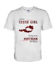 CZECH GIRL LIVING IN AUSTRIAN WORLD V-Neck T-Shirt thumbnail