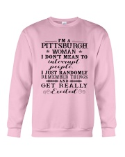 PITTSBURGH WOMAN I DON'T MEAN TO INTERRUPT Crewneck Sweatshirt thumbnail