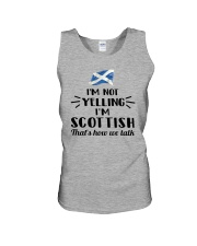 I'M NOT YELLING I'M SCOTTISH Unisex Tank thumbnail