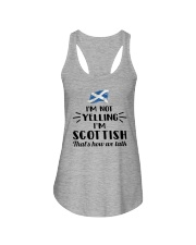 I'M NOT YELLING I'M SCOTTISH Ladies Flowy Tank thumbnail