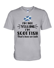 I'M NOT YELLING I'M SCOTTISH V-Neck T-Shirt thumbnail