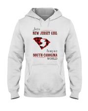 JERSEY GIRL LIVING IN SOUTH CAROLINA WORLD Hooded Sweatshirt thumbnail