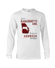 MASSACHUSETTS GIRL LIVING IN GEORGIA WORLD Long Sleeve Tee thumbnail