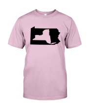 LIVING IN PENNSYLVANIA AND YOU'RE FROM NEW YORK Classic T-Shirt thumbnail