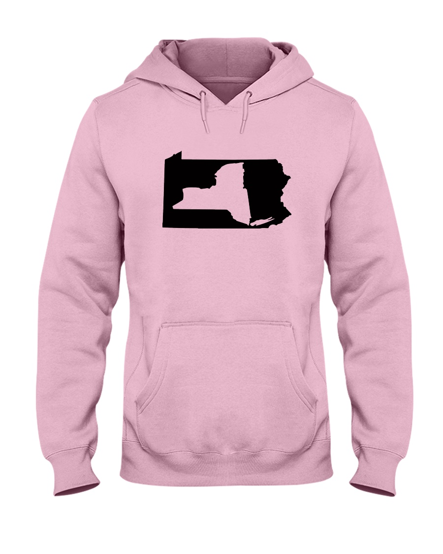 LIVING IN PENNSYLVANIA AND YOU'RE FROM NEW YORK Hooded Sweatshirt