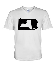 LIVING IN PENNSYLVANIA AND YOU'RE FROM NEW YORK V-Neck T-Shirt thumbnail