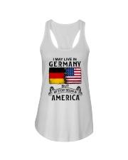 LIVE IN GERMANY BEGAN IN AMERICA Ladies Flowy Tank thumbnail