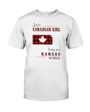 CANADIAN GIRL LIVING IN KANSAS WORLD Classic T-Shirt front