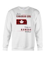 CANADIAN GIRL LIVING IN KANSAS WORLD Crewneck Sweatshirt thumbnail