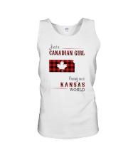 CANADIAN GIRL LIVING IN KANSAS WORLD Unisex Tank thumbnail